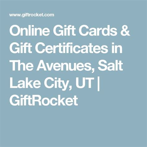 Salt Lake City Gift Cards - 1000 ideas about online gift certificates on pinterest online gifts e gift cards