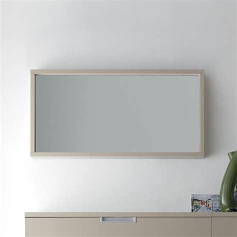 cornici 100x70 cinquanta m specchio rettangolare con cornice in legno