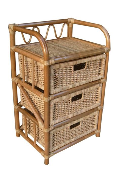Wicker 3 Drawer Storage by Buy Wicker Valley 3 Drawer Storage Unit From Our