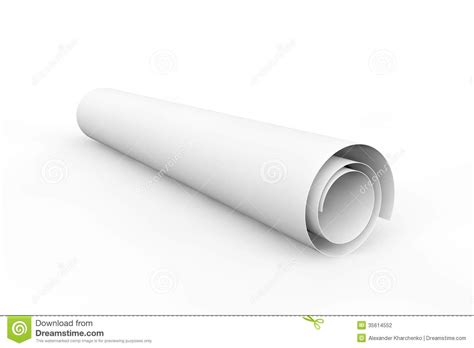roll of blank blueprint roll of paper stock photography image