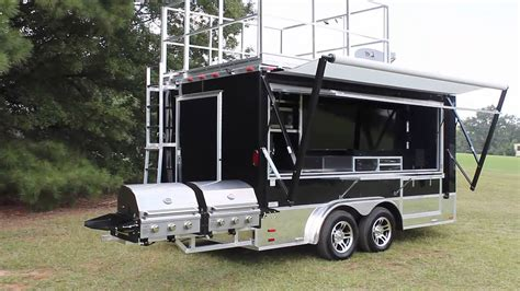 awning for trailer electric awning ready 2 roll trailers com youtube