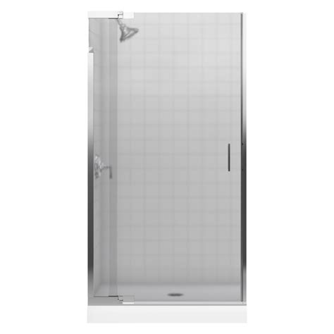pivot frameless shower door shop kohler 36 in to 39 in frameless pivot shower door at