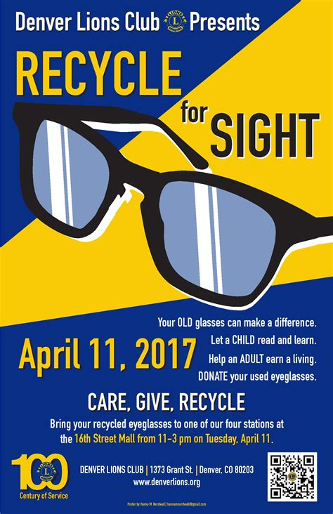 lions club of denver announces recycle for sight event