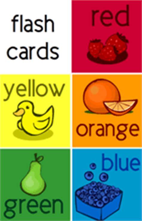 yellow flashcards preschool kindergarten