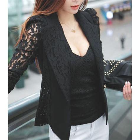 Jas Blazer Jaket Casual Style Blue jacket blazer black lace lace blazer black blazer