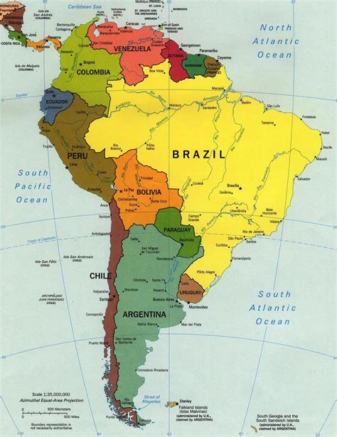 south america map by country south america countries list with their capitals