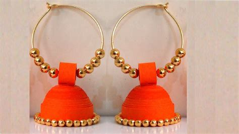 quilling paper earrings jhumkas tutorial latest beautiful easy paper quilling jewellery designs