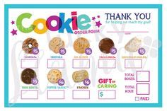 Scout Cookie Thank You Card Template by 2017 Scout Cookie Thank You Order Form Receipt