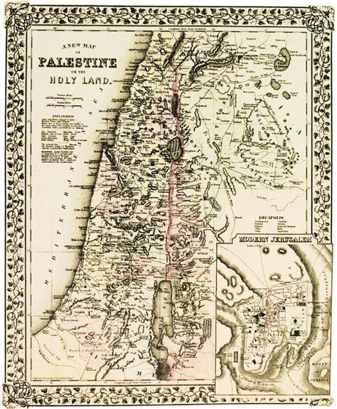 ancient map of jerusalem historical maps of palestine cintayati