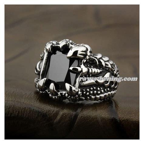 Cincin Jari Bahan Stainless Steel cincin cakar naga hitam ring 8us bahan stainless steel 316l