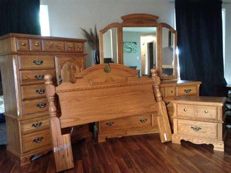 palliser solid oak  piece bedroom set  obo north regina regina