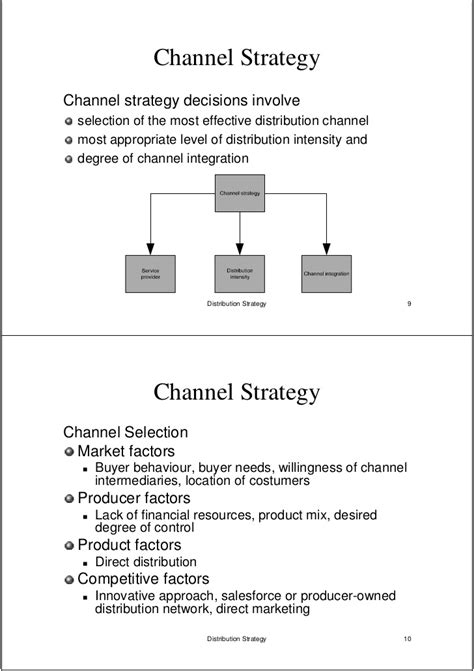 distribution strategy template distribution strategy