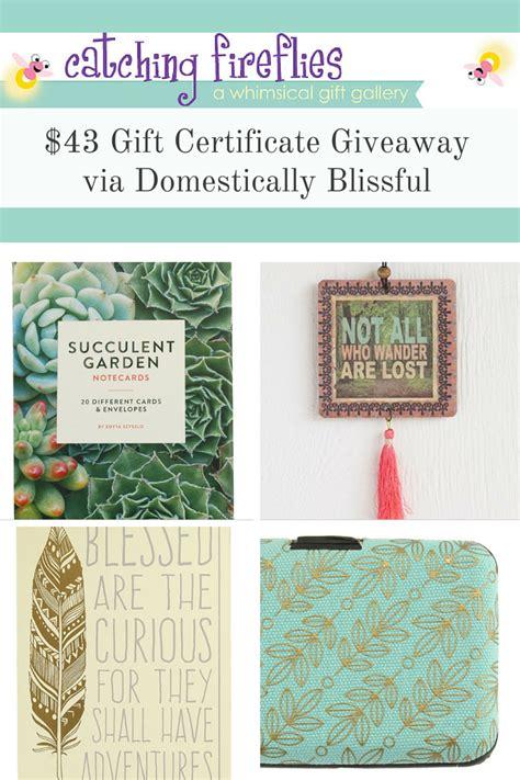 Gift Certificate Giveaway - catching fireflies 43 gift certificate giveaway
