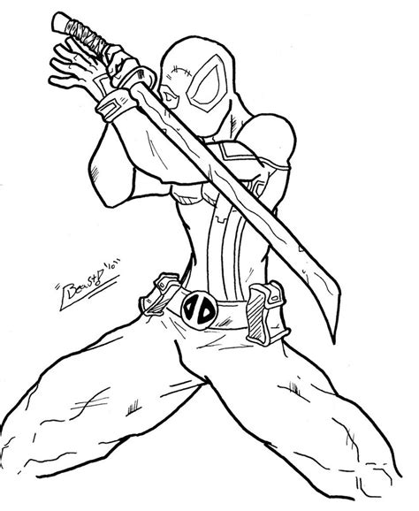 deadpool coloring book free printable deadpool coloring pages for