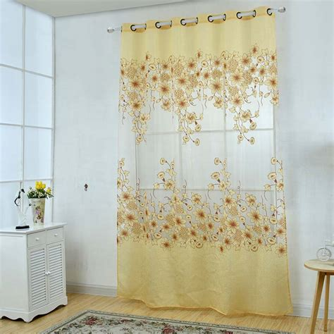 tulle curtain panel upscale floral tulle room door blackout window curtain