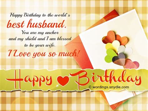 Husband Birthday Card Message Birthday Wishes For Husband Husband Birthday Messages And