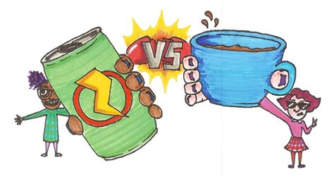 energy drinks vs coffee the chant says coffee vs energy drinks as sleep