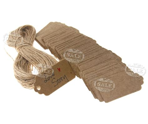 White Label Gift Cards - 4 x 2cm brown white kraft paper hang tags price party label gift cards 100pcs ebay