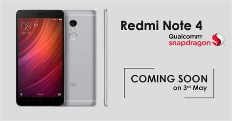 xiaomi note 4 xiaomi redmi note 4 snapdragon version set to launch in nepal gadgetbyte nepal