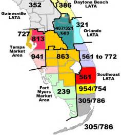 area code map of florida area code information florida service commission
