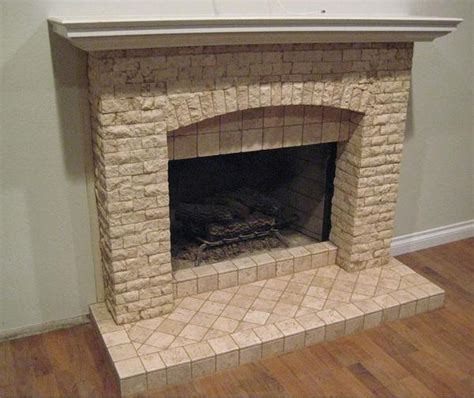 Pebble Tile Fireplace by Tile For Fireplace Surround Images