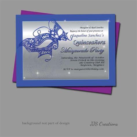 masquerade themed quinceanera invitations 17 best images about masquerade invitations on pinterest