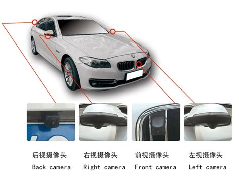 around view bird view 360 degree all view car security system