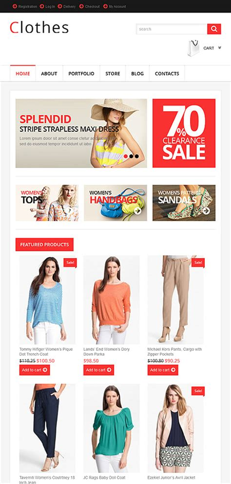 woocommerce themes clothing responsive clothes store woocommerce theme 46434