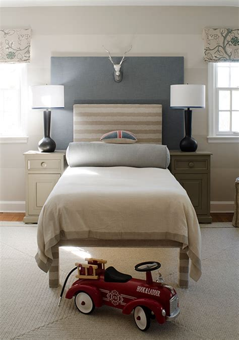boys headboards gray nightstand contemporary boy s room finnian s