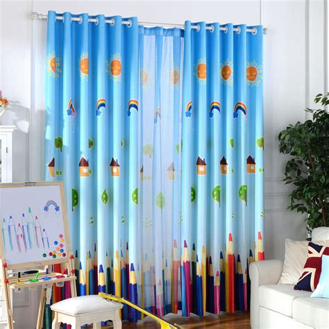 childrens blinds and curtains blackout curtains and tulle for children room rainbow