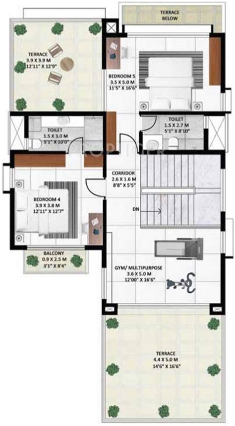 4200 sq ft house plans 4200 sq ft 5 bhk 6t villa for sale in godrej properties