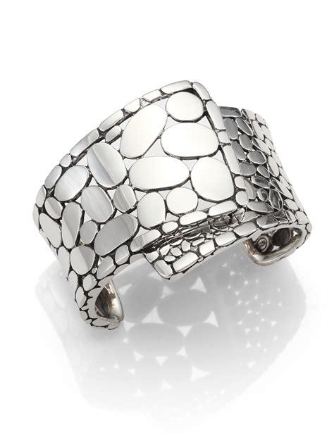 John hardy Sterling Silver Wide Cuff Bracelet in Metallic   Lyst