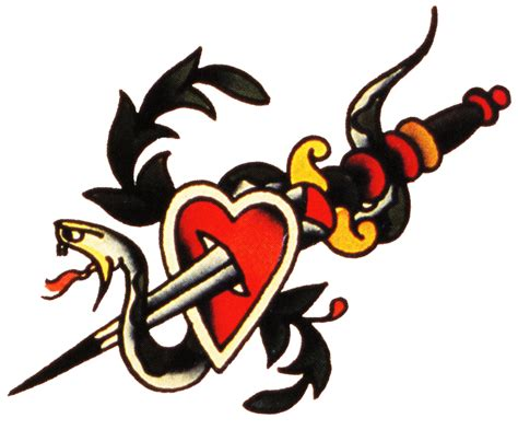 sailor jerry heart tattoo designs sailor jerry vintage designs snake dagger