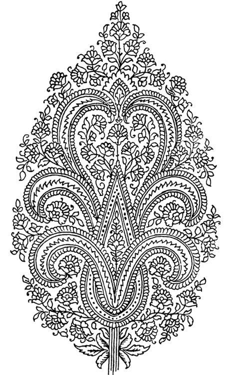paisley designs coloring pages dover publications paisley coloring page