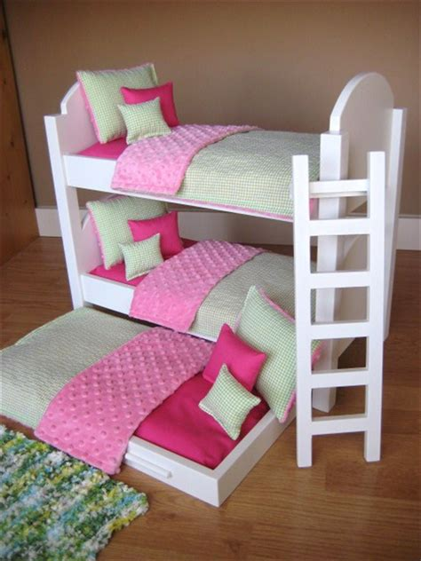 american doll bed triple bunk bed for american girl dolls reserved for