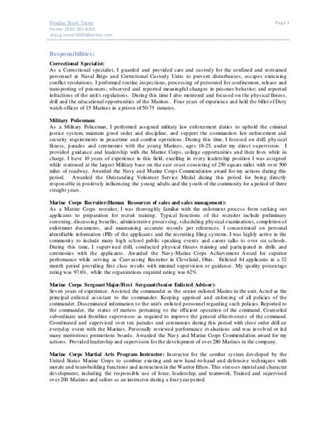 professional personnel specialist templates to showcase federal resume sle resume