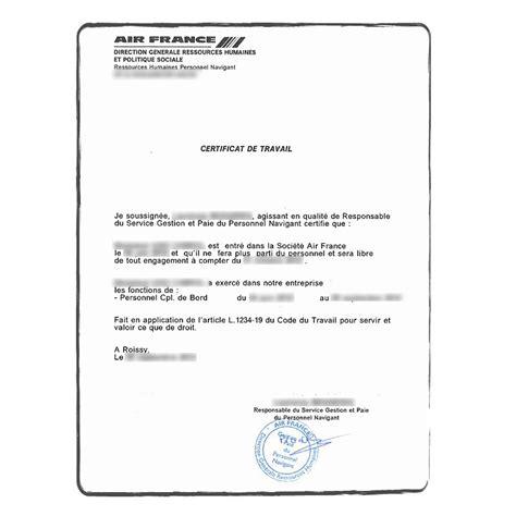 Traduction Certifi 233 E Certificat De Travail Acs