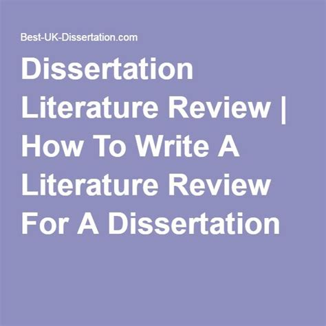 Literature Dissertation Ideas by Dissertation Literature Review How To Write A L