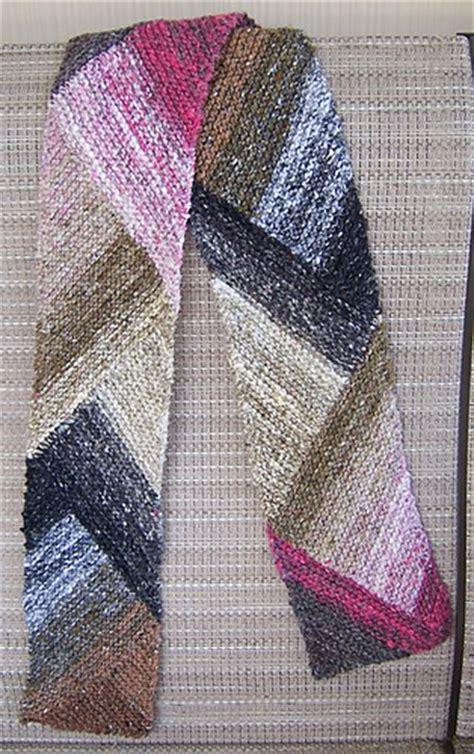 knitting pattern diagonal scarf ravelry multidirectional diagonal scarf pattern by karen