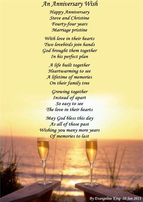Wedding Anniversary Poems For Parents by Anniversary Poems For My Parents An Anniversary Wish