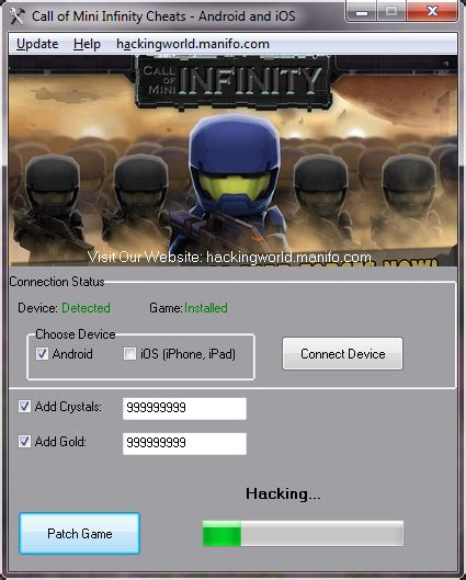 Infiny Cal 3 call of mini infinity chets for android ios