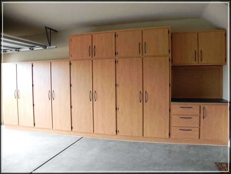 How To Build Garage Cabinets Easy by Creating Diy Space Saving Garage Cabinet Plans Home