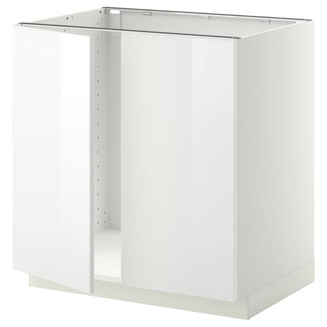 White 2 Door Cabinet Metod Base Cabinet For Sink 2 Doors White Ringhult White 80x60 Cm Ikea