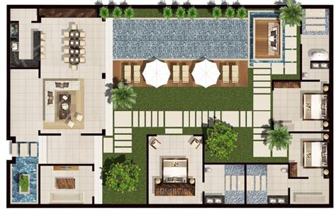 2 bed pool villa floor plan chandra bali villas space seclusion and privacy at chandra