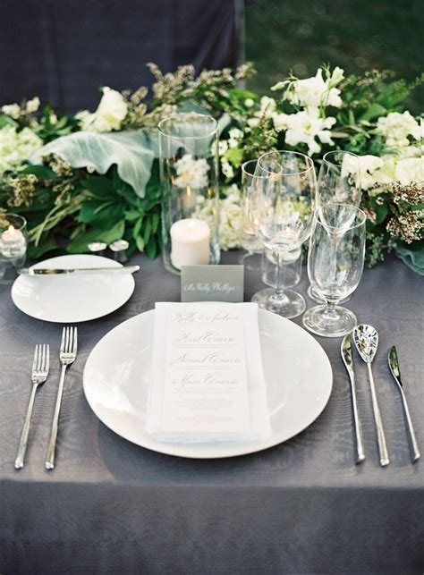 Table Settings For Weddings Best 25 White Table Settings Ideas On Black And White Theme Striped Wedding And