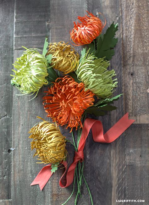 How To Make Paper Mums - paper spider mums for fall lia griffith