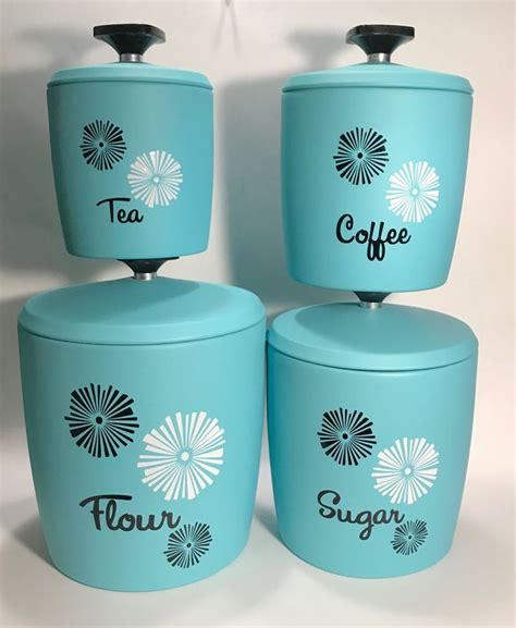 vintage 60s mod tin nesting canister set by counterpoint san 240 best vintage kitchen images on pinterest