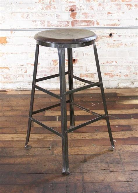 Rustic Backless Bar Stools by Rustic Bar Stool Backless Kitchen Wood And Metal Bar Stool
