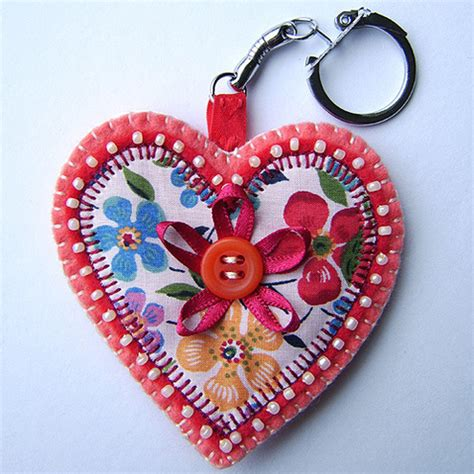 Handmade Hearts Crafts - folksy buy quot pretty key ring bag charm