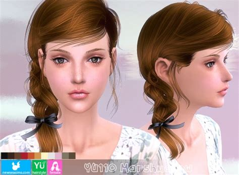 barbies stuffs hairstyles sims 4 hairs sims 4 hairs newsea yu110 marshmallow hairstyle
